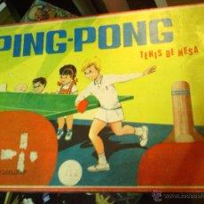 Juegos de mesa: TENIS DE MESA -EQUIPO DE PING PONG- EN CAJA ORIGINAL. Lote 46339943