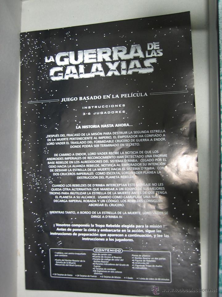 Juegos de mesa: Juego de la guerra de las galaxias de Parker 1996 - Foto 13 - 46811336