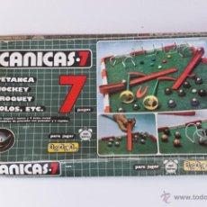 Juegos de mesa: CANICAS 7 ESCALA 5A, AÑOS 70. Lote 46874457
