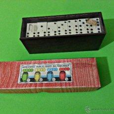 Juegos de mesa: PARCHIS / DAMAS CUBILETES JUEGO DOMINO. Lote 46955695