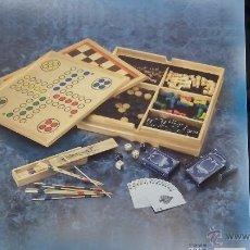 Juegos de mesa: CAJA DE JUEGOS EN MADERA. Lote 47065526