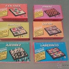 Juegos de mesa: COLGATE COLECCION COMPLETA 6 JUEGOS MAGNETICOS . AÑOS 80. OBSEQUIO. DAMAS. AJEDREZ. PARCHIS. SAFARI.. Lote 47093656