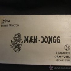 Juegos de mesa: MAH JONGG - 4 JUGADORES - JUEGOS MENORCA - A ESTRENAR - . Lote 47248205