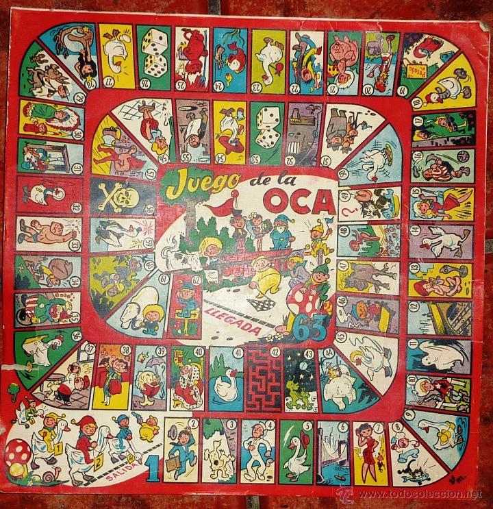Antiguo juego de la oca en cart n peque o r comprar juegos de mesa antiguos en todocoleccion - La oca juego de mesa ...