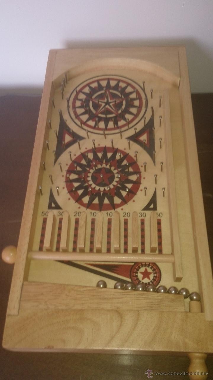 Pinball de mesa de madera tirador con muelle bo comprar for Pinball de mesa