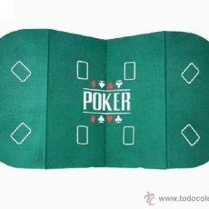 Juegos de mesa: PRACTICO MESADO TABLERO DE POKER PLEGABLE CONVIERTE UNA MESA NORMAL EN UN SALON DE POKER 8 PERSONAS. Lote 47872037