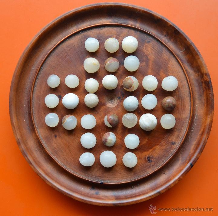 famosa marca de diseñador niño Precio pagable Juego solitario de madera noble con bolas de ma - Vendido en ...