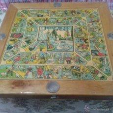 Juegos de mesa: ANTIGUO JUEGO MADERA DE PARCHIS Y OCA. Lote 206298500