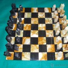 Juegos de mesa: AJEDREZ DE MÁRMOL MEXICANO TALLADO A MANO.. Lote 48385773