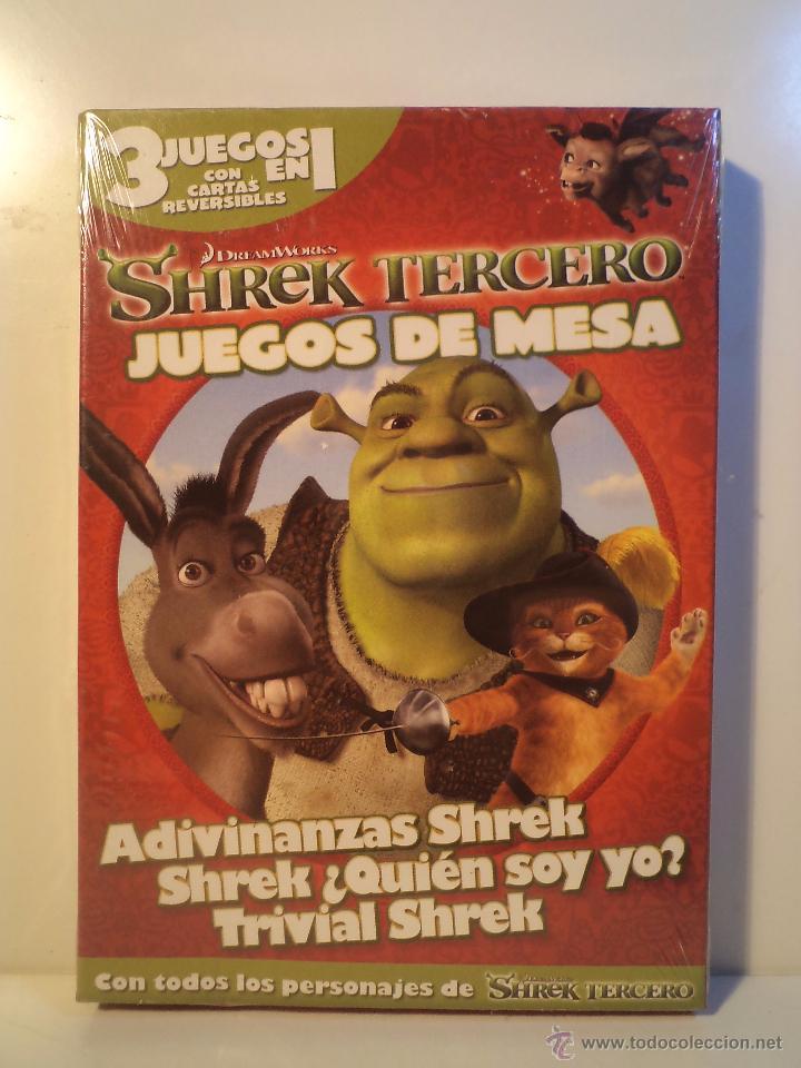 Shrek Tercero Juegos De Mesa 3 Juegos En 1 A Comprar Juegos De