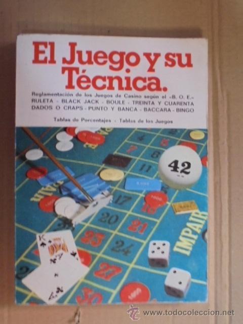JUEGO Y TECNICA - REGLAMENTOS RULETA / BLACK JACK - BINGO - DADOS - BACCARA - TABLAS PORCENTAJES (Juguetes - Juegos - Juegos de Mesa)