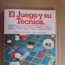 Juegos de mesa: JUEGO Y TECNICA - REGLAMENTOS RULETA / BLACK JACK - BINGO - DADOS - BACCARA - TABLAS PORCENTAJES. Lote 48671934