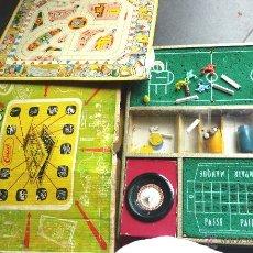 Juegos de mesa: ANTIGUO ÚNICO JUEGO JUEGOS REUNIDOS . CASA CALVI CAJA BASKET , RULETA TABLERO PARCHIS. Lote 48918625