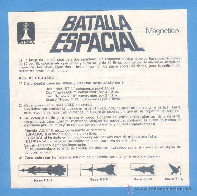 Instrucciones Batalla Espacial Juego Magnetico Comprar Juegos De