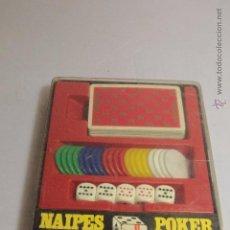 Juegos de mesa: LOTE DE JUEGO DE DADOS, FICHAS Y NAIPES DE POKER. POLLY POKER -REF3500- D. Lote 49101798