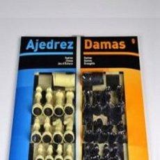 Juegos de mesa: TABLERO GRANDE 40CM AJEDREZ / DAMAS + ACCESORIOS. Lote 49294417