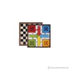 Juegos de mesa: TABLERO GRANDE PARCHÍS 4 JUGADORES / AJEDREZ 40 X 40. Lote 96538703