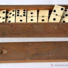 Juegos de mesa: ANTIGUO DOMINO DE EBANO Y HUESO. Lote 49418277