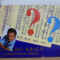 Juegos de mesa: JUEGO DE MESA: ALFREDO KRAUS, EL JUEGO DIDÁCTICO MUSICAL.LEER Y VER FOTOS.. Lote 49960137