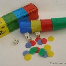 Juegos de mesa: ACCESORIOS DE PARCHIS , JUGUETES FALOMIR AÑOS 70 , NUEVO. Lote 53248525