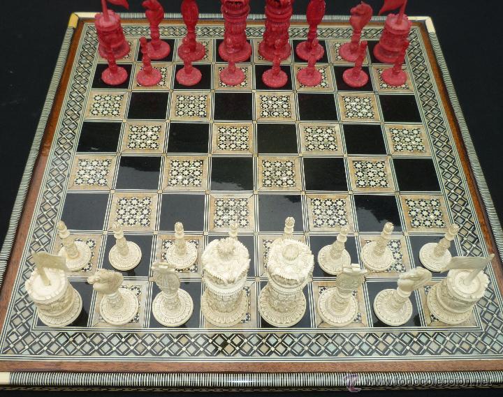 Antiguo Ajedrez Chino De Marfil Comprar Juegos De Mesa Antiguos