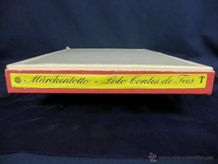 Juegos de mesa: juego swiss loto contes fées cuentos hadas años 40 carlit zurich suiza fichas nuevas 25x35x4cms - Foto 4 - 50235589