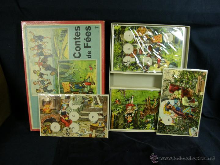 Juegos de mesa: juego swiss loto contes fées cuentos hadas años 40 carlit zurich suiza fichas nuevas 25x35x4cms - Foto 7 - 50235589