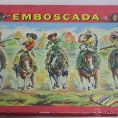 Juegos de mesa: ESPECTACULAR JUEGO DE MESA,EMBOSCADA,PRECIOSA CAJA,JUEGO DE VENTOSAS,SIN MARCA,MUY RARO. Lote 50488210