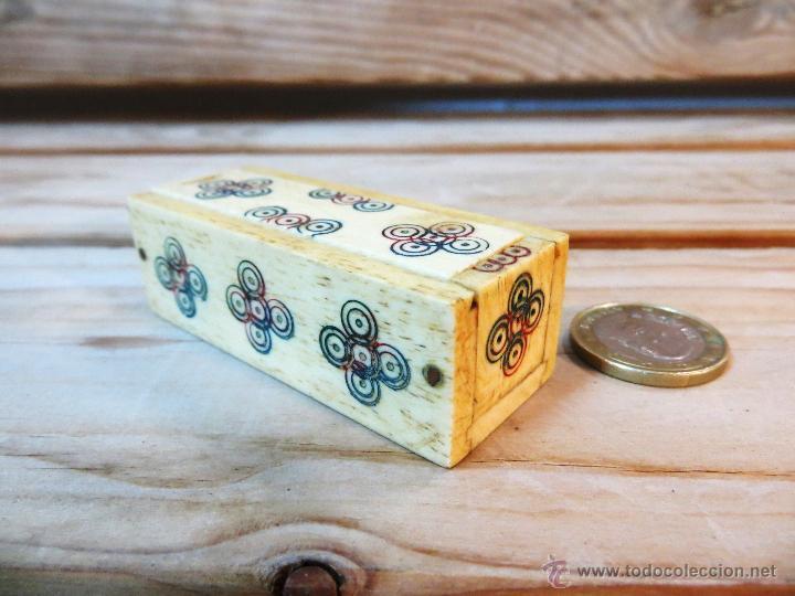 Juegos de mesa: Mini Dominó de Marfil y Hueso mediados S. XX con caja original - Foto 2 - 50515873