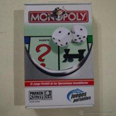 Juegos de mesa: MONOPOLY PORTATIL - PARKER - 2005. Lote 54436309