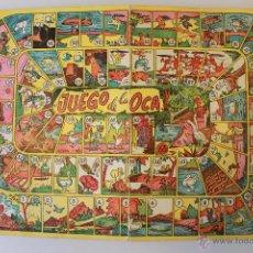 Juegos de mesa: ANTIGUO TABLERO DEL JUEGO DE LA OCA, 35X23,50 CM, CARTÓN FINO. 26 FOTOS. Lote 50589816