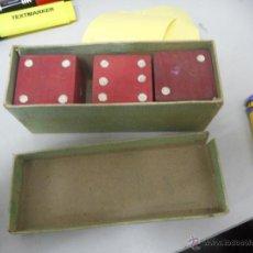 Jeux de table: ANTIGUA CAJA DADOS MADERA GRAN TAMAÑO. Lote 88158956