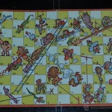 Juegos de mesa: CARTÓN TABLERO JUEGO DE LA OCA ,DE ANIMALES. Lote 50667465