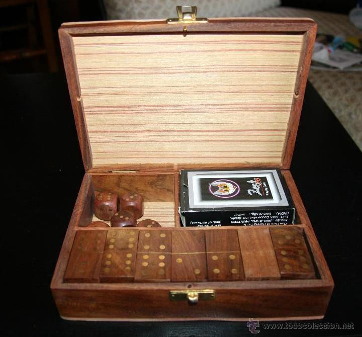 Caja De Madera Con Juegos De Domino Dados Y Ca Comprar Juegos De