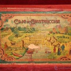 Juegos de mesa: ANTIGUO JUEGO: CAJA DE CONSTRUCCIÓN DE LOS 30. EN MADERA. ORIGINAL Y COMPLETO. Lote 50956225