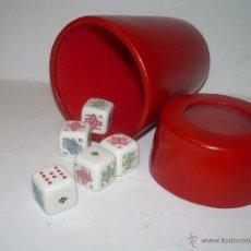 Juegos de mesa: ANTIGUO CUBILETE DE PIEL DE DADOS DE POKER..PERFECTISIMO ESTADO DE CONSERVACION.. Lote 69111455