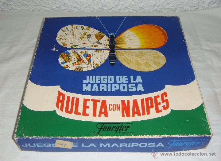 JUEGO DE LA MARIPOSA. RULETA CON NAIPES. FOURNIER (Juguetes - Juegos - Juegos de Mesa)