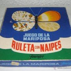 Juegos de mesa: JUEGO DE LA MARIPOSA. RULETA CON NAIPES. FOURNIER. Lote 51529227