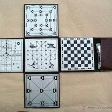 Juegos de mesa: ESTUCHE DE VIAJE CON 4 JUEGOS. Lote 51532723