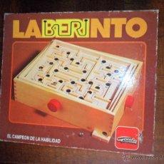 Juegos de mesa: LABERINTO - GOULA - MADERA, TAMAÑO MUY GRANDE- FUNCIONANDO, COMPLETO.. Lote 51937825