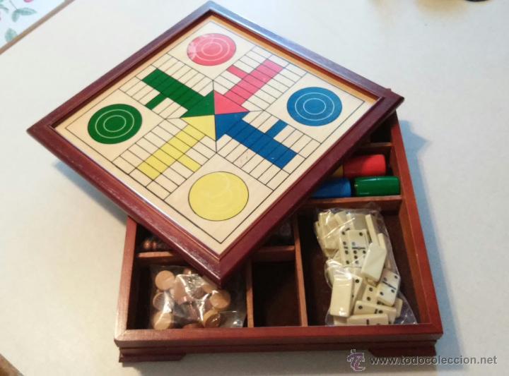 Preciosa Y Poco Comun Caja Madera Con Varios Ju Comprar Juegos De
