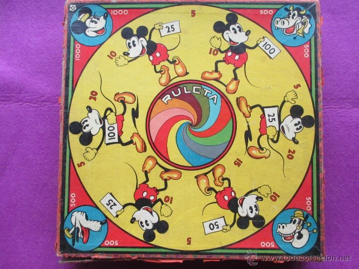 Juego Mickey Mouse Ruleta Walt Disney Antiguo Comprar Juegos De