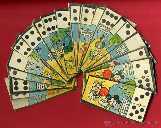 Lote 23 Cromos Juego Domino Mickey Mouse Comprar Juegos De