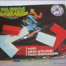 Juegos de mesa: PILOTOS TEMERARIOS, GYRO JET, 1 MOTO, 1 PILOTO ARTICULALDO, 1 MURO DESMOMTABLE, REF 603, EN CAJA. CC. Lote 52852373