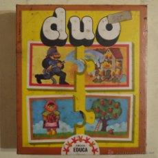 Juegos de mesa: DUO - EDUCA - 1978 - JUEGO NUEVO Y PRECINTADO. Lote 52923716
