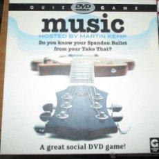 Juegos de mesa: QUIZ GAME MUSIC HOSTED BY MARTIN KEMP -SPANDAU BALLET- JUEGO CON DVD AÑO 2000 - EN INGLÉS. Lote 52977175