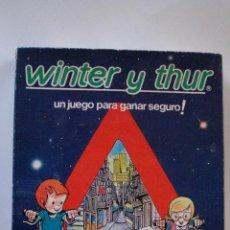 Juegos de mesa: JUEGO WINTER Y THUR - SEGUROS WINTERTHUR. Lote 53006921