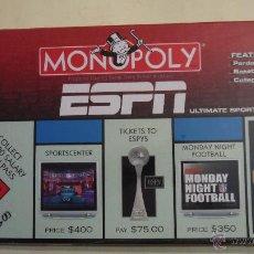Juegos de mesa: MONOPOLY ESPN - ULTIMATE SPORT FAN EDITION - PARKER - 2006 - NUEVO Y PRECINTADO - EN INGLES. Lote 53204755