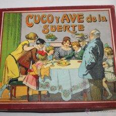 Juegos de mesa: JUEGO DE MESA - CUCO Y AVE DE LA SUERTE - CONSERVA LAS INSTRUCCIONES - AÑOS 20. Lote 53205914