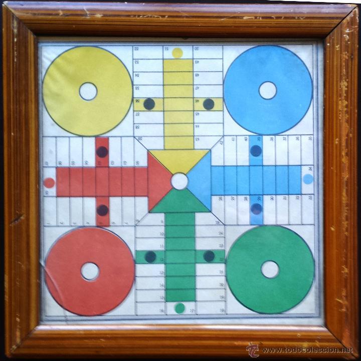 pequeño tablero de parchís con cristal y marco - Comprar Juegos de ...